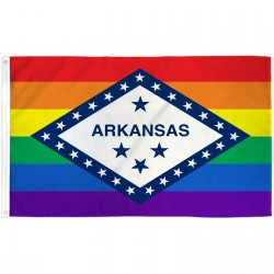 Arkansas Rainbow Pride 3 'x 5' Polyester Flag