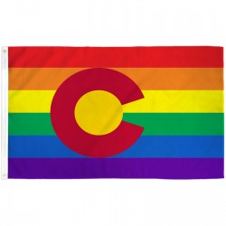 Colorado Rainbow Pride 3 'x 5' Polyester Flag