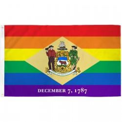 Delaware Rainbow Pride 3 'x 5' Polyester Flag