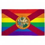 Florida Rainbow Pride 3 'x 5' Polyester Flag