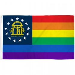 Georgia Rainbow Pride 3 'x 5' Polyester Flag