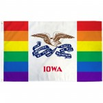 Iowa Rainbow Pride 3 'x 5' Polyester Flag