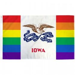 Iowa Rainbow Pride 3 'x 5' Polyester Flag