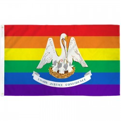 Louisiana Rainbow Pride 3 'x 5' Polyester Flag