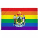 Maine Rainbow Pride 3 'x 5' Polyester Flag