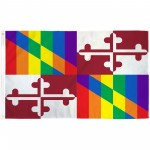 Maryland Rainbow Pride 3 'x 5' Polyester Flag
