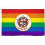 Minnesota Rainbow Pride 3 'x 5' Polyester Flag