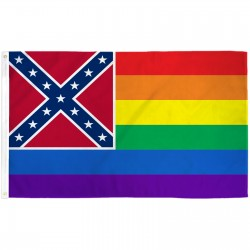 Mississippi Rainbow Pride 3 'x 5' Polyester Flag