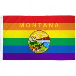 Montana Rainbow Pride 3 'x 5' Polyester Flag
