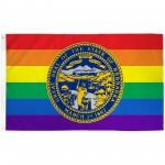 Nebraska Rainbow Pride 3 'x 5' Polyester Flag