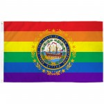 New Hampshire Rainbow Pride 3 'x 5' Polyester Flag