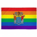 New Jersey Rainbow Pride 3 'x 5' Polyester Flag