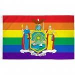 New York Rainbow Pride 3 'x 5' Polyester Flag