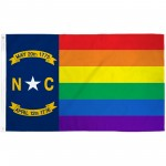 North Carolina Rainbow Pride 3 'x 5' Polyester Flag