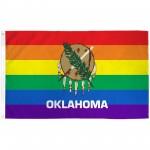 Oklahoma Rainbow Pride 3 'x 5' Polyester Flag