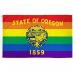 Oregon Rainbow Pride 3 'x 5' Polyester Flag