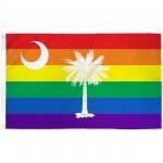 South Carolina Rainbow Pride 3 'x 5' Polyester Flag