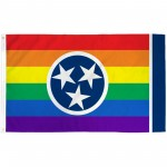 Tennessee Rainbow Pride 3 'x 5' Polyester Flag