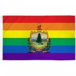 Vermont Rainbow Pride 3 'x 5' Polyester Flag
