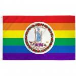 Virginia Rainbow Pride 3 'x 5' Polyester Flag