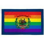 West Virginia Rainbow Pride 3 'x 5' Polyester Flag