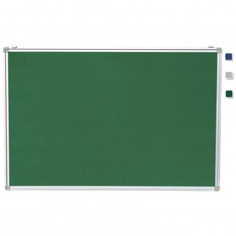 "24""x 36"" Aluminum Framed Green Fabric Pin Board"