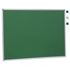 "36""x 48"" Aluminum Framed Green Fabric Pin Board"