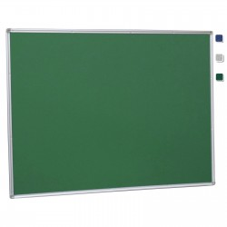 "36""x 48"" Aluminum Framed Green Fabric Pin Board"