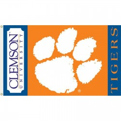 Clemson Tigers Double Sided 3'x 5' College Flag