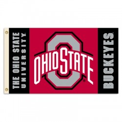 Ohio State Buckeyes Double Sided 3'x 5' College Flag