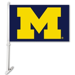 Michigan Wolverines NCAA Double Sided Car Flag