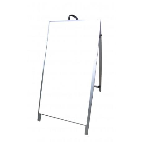 """48"""" Aluminum A-frame - Acrylic White Panels"""