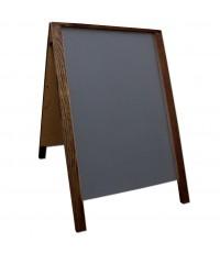 """36"""" Economy Wood A-Frame Chalkboard - Walnut Stain"""