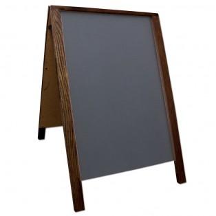 """28"""" Economy Wood A-Frame Chalkboard - Walnut"""