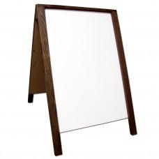 """36"""" Economy Wood A-Frame Dry Erase - Walnut Stain"""
