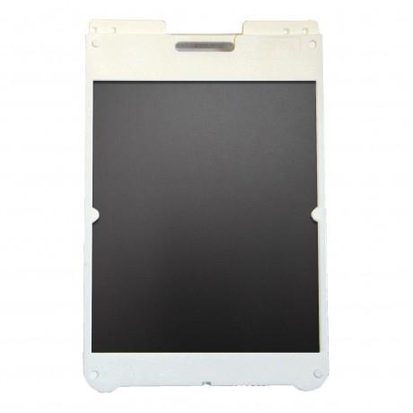 "25"" x 36"" White Poly Plastic A-Frame - Chalkboard Black Panels"