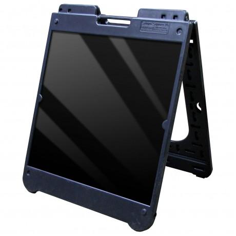 "26"" x 32"" Black Poly Plastic A-Frame - Acrylic Black Panels"
