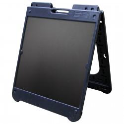 "26"" x 32"" Black Poly Plastic A-Frame - Chalkboard Black Panels"