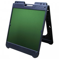 "26"" x 32"" Black Poly Plastic A-Frame - Chalkboard Green Panels"