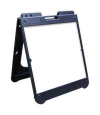 "26"" x 32"" Black Poly Plastic A-Frame - Dry Erase Panels"