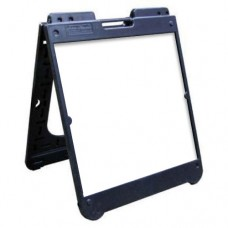 "26"" x 32"" Black Poly Plastic A-Frame - Dry Erase Panels"