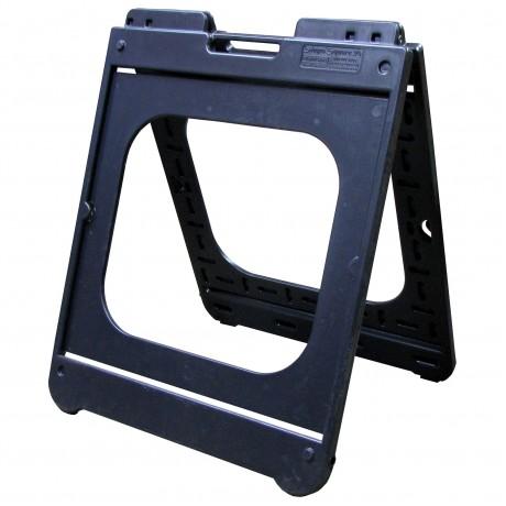 "26"" x 32"" Black Poly Plastic A-Frame - Frame Only"