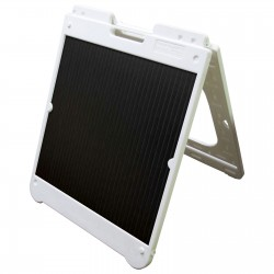 "26"" x 32"" White Poly Plastic A-Frame - Correx Black Panels"