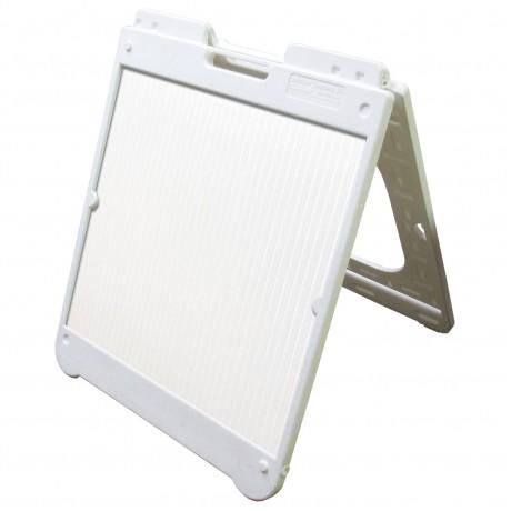 "26"" x 32"" White Poly Plastic A-Frame - Correx White Panels"