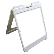 "26"" x 32"" White Poly Plastic A-Frame - Dry Erase Panels"