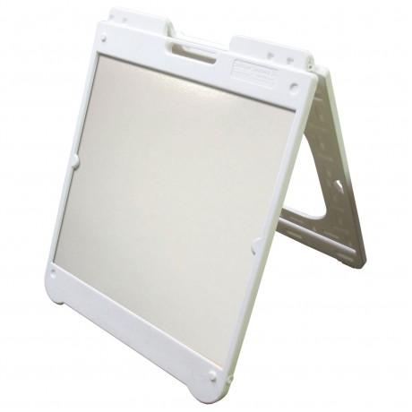 "26"" x 32"" White Poly Plastic A-Frame - Dry Erase Panels"