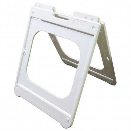 """26"""" x 32"""" White Poly Plastic A-Frame - Frame Only"""