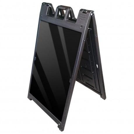 "25"" x 45"" Black Poly Plastic A-Frame - Acrylic Black Panels"