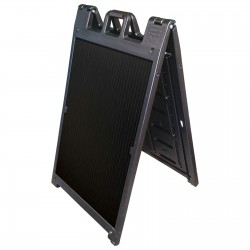 "25"" x 45"" Black Poly Plastic A-Frame - Correx Black Panels"