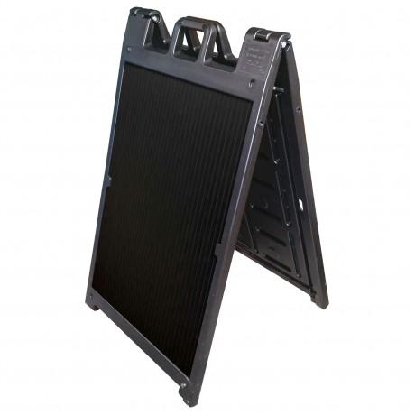 "25"" x 45"" Black Poly Plastic A-Frame - Correx Black Panels"